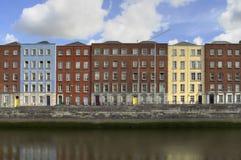 Casas de Dublín Fotografía de archivo