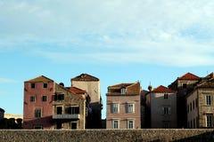 Casas de Dubrovniks Fotografía de archivo libre de regalías