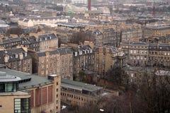 Casas de Edimburgo de la colina de Calton Imagen de archivo libre de regalías
