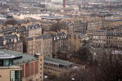 Casas de Edimburgo do monte de Calton Imagem de Stock Royalty Free