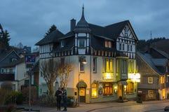 Casas de entramado de madera de Freudenberg Imagen de archivo