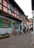 Casas de entramado de madera del wicht de la calle fotos de archivo