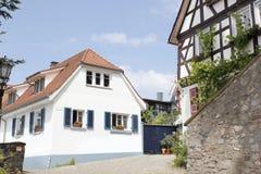 Casas de entramado de madera históricas imagen de archivo