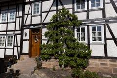 Casas de entramado de madera hist?ricas en Hesse fotografía de archivo libre de regalías