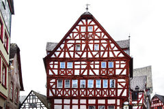 Casas de Fahverk no mercado (Marktplatz) Fritzlar Fotografia de Stock Royalty Free