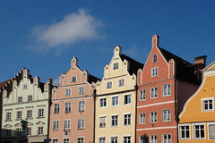 Casas de fila alemanas históricas Imagenes de archivo