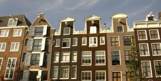 Casas de fila en Amsterdam Fotos de archivo