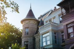 Casas de fila en Capitol Hill, Washington, DC imágenes de archivo libres de regalías