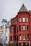 Casas de fila en Capitol Hill, Washington, DC fotos de archivo
