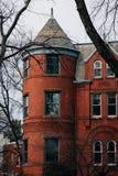 Casas de fila en Capitol Hill, Washington, DC imagenes de archivo