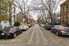 Casas de fila en Georgetown, Washington, DC Fotografía de archivo libre de regalías