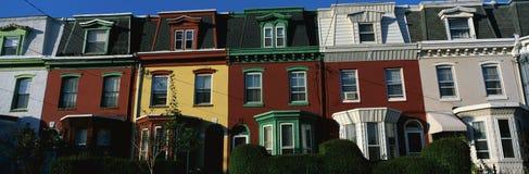 Casas de fila en Philadelphia, PA Fotografía de archivo libre de regalías
