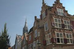 Casas de fileira em Amsterdão Fotografia de Stock
