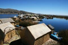 Casas de flutuação Fotografia de Stock Royalty Free