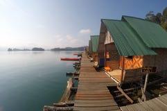 Casas de flutuação de Khao Sok National Park Thailand Fotografia de Stock