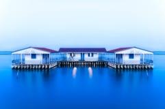 Casas de flutuação de Missolonghi Imagens de Stock