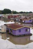 Casas de flutuação, Uthai Thani, Tailândia Imagens de Stock