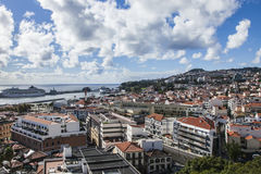 Casas de Funchal, Madeira Fotografía de archivo libre de regalías