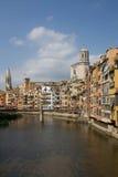 Casas de Girona Fotos de archivo libres de regalías