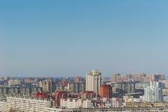 Casas de gran altura en un distrito residencial de St Petersburg, Rusia Foto de archivo libre de regalías