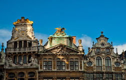 Casas de Grand Place famoso Imagens de Stock Royalty Free
