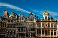 Casas de Grand Place famoso Imagem de Stock