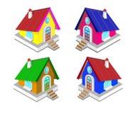 Casas de hadas para su creatividad Ilustración del vector stock de ilustración