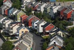 Casas de Hammerfest Imagen de archivo