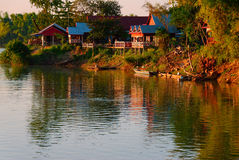 Casas de huéspedes de Don Det Don Khon fotos de archivo libres de regalías