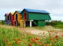 Casas de ilha coloridas -- Pescadores, Taiwan Fotografia de Stock Royalty Free