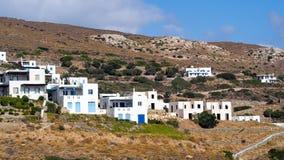 Casas de ilha gregas brancas, Andros Imagens de Stock Royalty Free