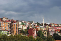 Casas de Istambul Imagens de Stock
