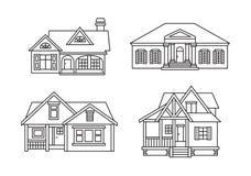 Casas de la cabaña ilustración del vector