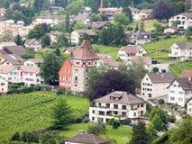 Casas de la ciudad Vaduz Fotos de archivo