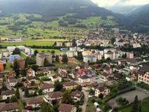 Casas de la ciudad Vaduz Imagen de archivo