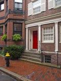 Casas de la colina de faro, Boston Imagen de archivo libre de regalías