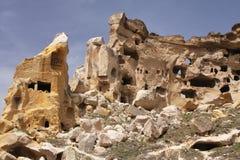 Casas de la cueva Fotografía de archivo