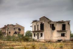 Casas de la guerra Imagen de archivo libre de regalías