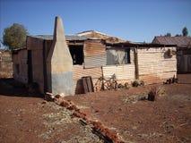 Casas de la hoja de metal Foto de archivo
