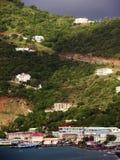 Casas de la isla de Tortola imagenes de archivo