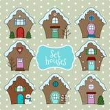 Casas de la Navidad del vector Fotografía de archivo