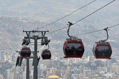 Casas de La Paz con el teleférico de Teleferico imágenes de archivo libres de regalías