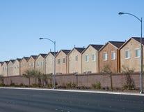 Casas de la pista Foto de archivo