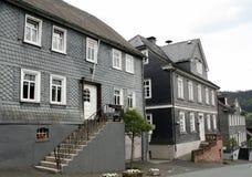 Casas de la pizarra, Alemania Imagenes de archivo