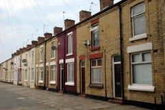 Casas de la terraza Foto de archivo libre de regalías