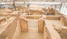 Casas de la terraza en la ciudad antigua de Ephesus Imagen de archivo libre de regalías