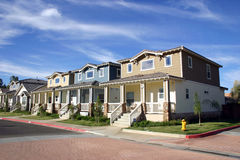 Casas de la vecindad foto de archivo