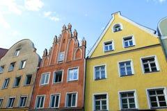Casas de Landshut Fotos de archivo