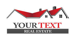 Casas de las propiedades inmobiliarias stock de ilustración