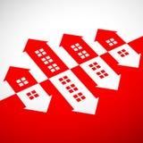 Casas de las propiedades inmobiliarias?, planos para la venta o para el alquiler Ilustración común Imágenes de archivo libres de regalías